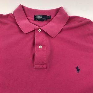Polo Ralph Lauren polo shirt men's 2XLT pink